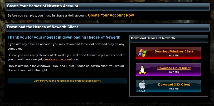 Download latest patch for heroes of newerth